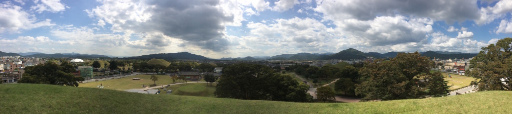 Gyeongju views from a tomb