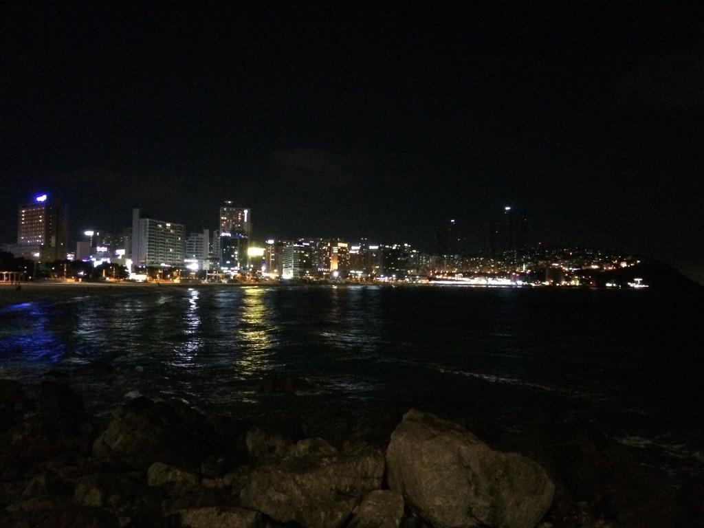 Looking over Haeundae beach