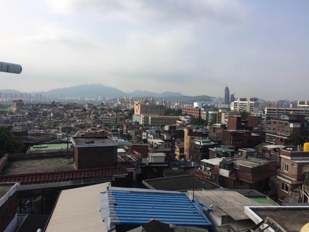 View of Seoul City from the roof of my hostel